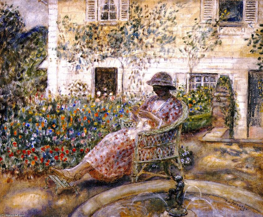 The Fountain, 1923 by Frederick Carl Frieseke (1874-1939, United States) | Art Reproduction | WahooArt.com