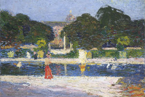 Henri Jean Guillaume Martin - Fountain in the garden at Luxembourg