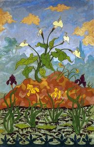 Paul Ranson - Four Decorative Panels: Arums and Purple and Yellow Irises