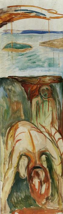 Fragment of War (also known as The Storm), 1919 by Edvard Munch (1863-1944, Sweden) | Museum Quality Reproductions | WahooArt.com