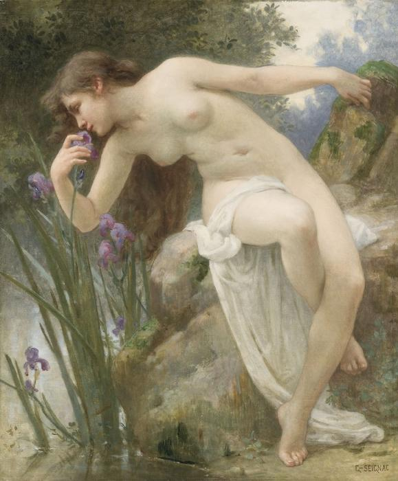 The Fragrant Iris by Guillaume Seignac (1870-1924, France)
