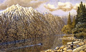 William George Richardson Hind - Fraser River, Loon