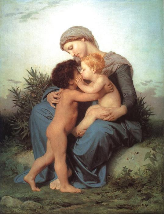 Fraternal Love, Oil On Canvas by William Adolphe Bouguereau (1825-1905, France)
