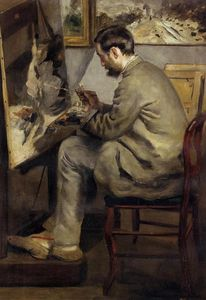 Pierre-Auguste Renoir - Frederic Bazille Painting -The Heron-