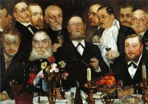Lovis Corinth (Franz Heinrich Louis) - The Freemason's (also known as Firm in Loyalty)
