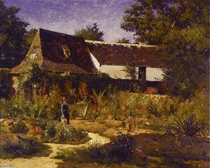 William Lamb Picknell - A French Garden, Provence