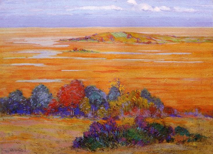From Bayberry Hill, 1910 by Arthur Wesley Dow (1857-1922, United Kingdom) | Painting Copy | WahooArt.com