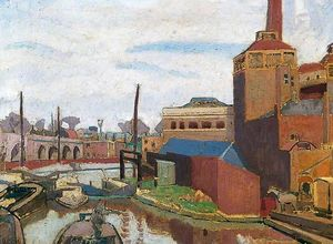 Spencer Frederick Gore - From a Canal Bridge, Chalk Farm Road