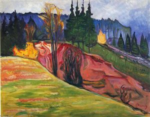 Edvard Munch - From Thuringewald
