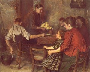 Émile Friant - The Frugal Repast
