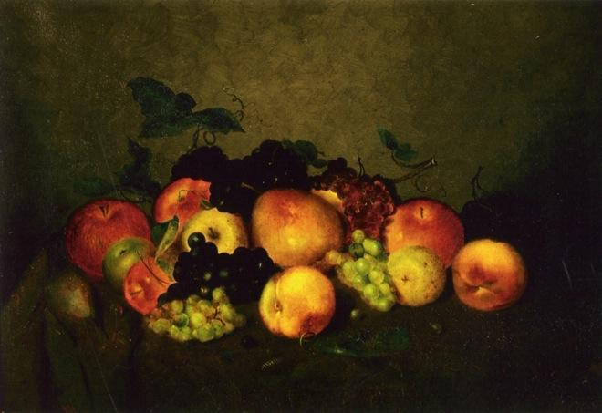 Fruit: Apples, Grapes, Peaches and Pears, 1875 by Charles Ethan Porter (1847-1923, United States) | Museum Quality Copies Charles Ethan Porter | WahooArt.com