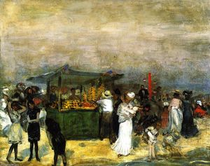 William James Glackens - Fruit Stand, Coney Island