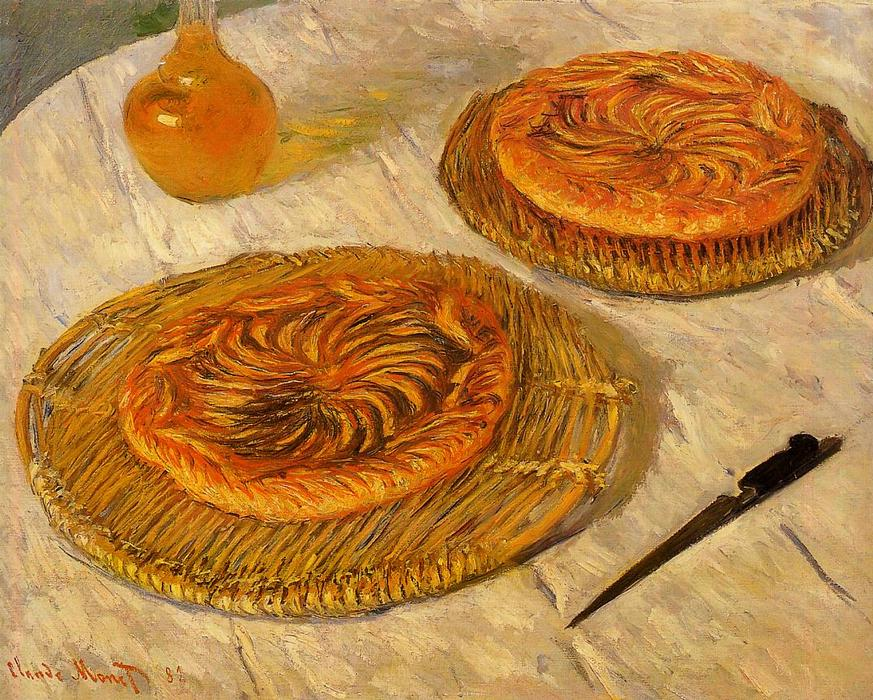 The `Galettes`, 1882 by Claude Monet (1840-1926, France) | Reproductions Claude Monet | WahooArt.com