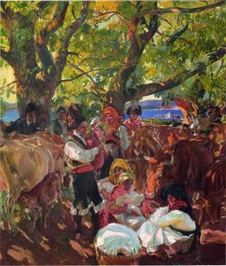 Joaquin Sorolla Y Bastida - Galicia, the Pilgrimage (also known as The Cattle Fair, Galicia)