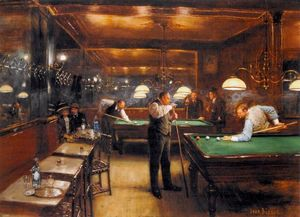 Jean Georges Béraud - A Game Of Billiards