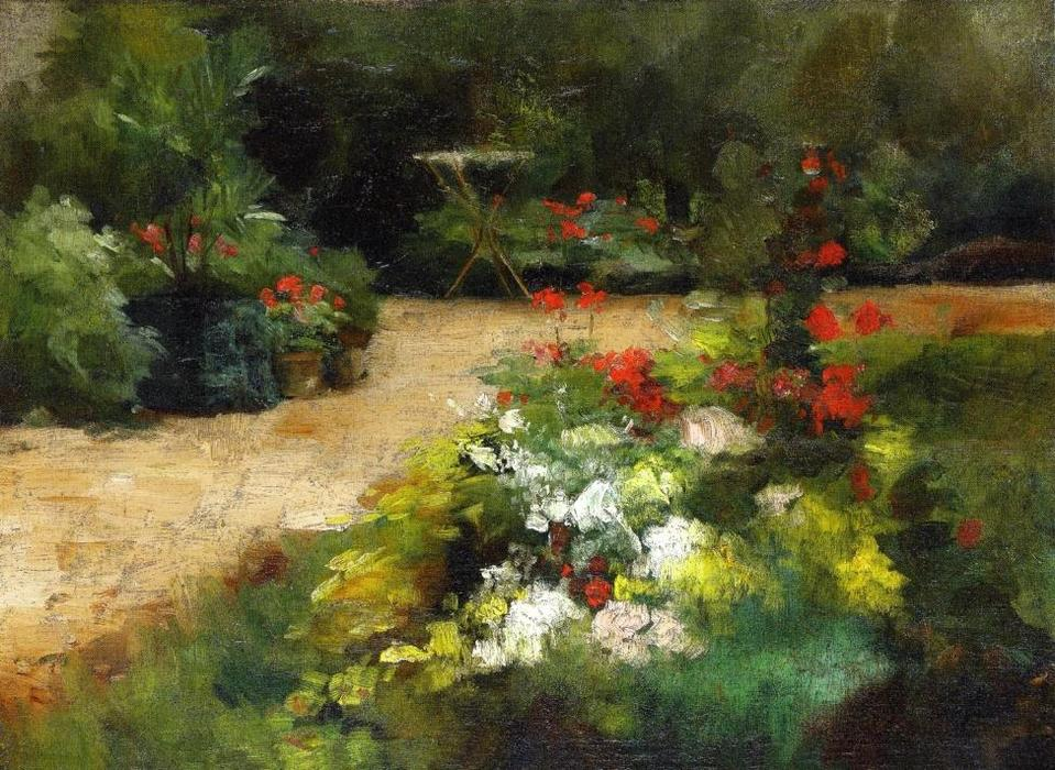 Garden, Oil On Canvas by Gustave Caillebotte (1848-1894, France)