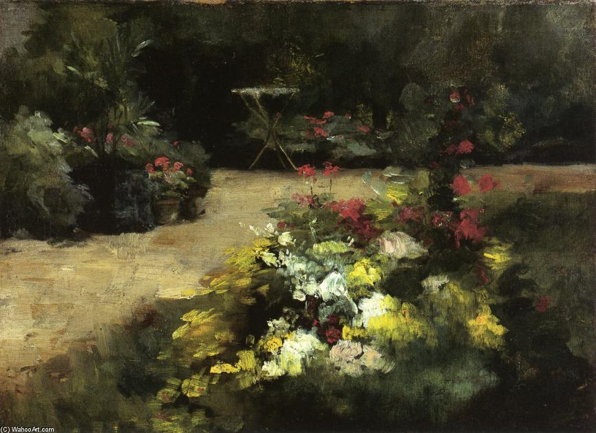 The Garden, 1878 by Gustave Caillebotte (1848-1894, France) | WahooArt.com