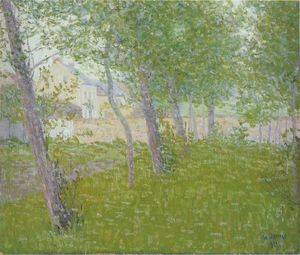 Gustave Loiseau - Garden by the House