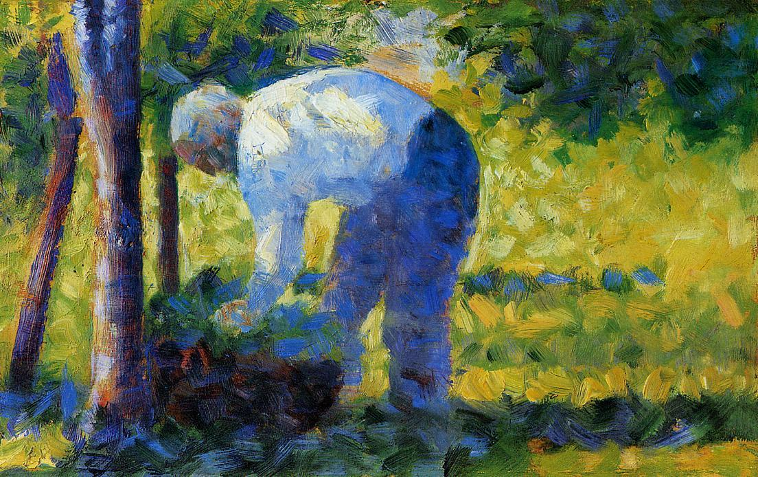 The Gardener, 1884 by Georges Pierre Seurat (1859-1891, France) | Painting Copy | WahooArt.com