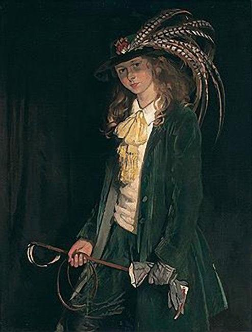 Gardenia St George with Riding Crop by William Newenham Montague Orpen (1878-1931, Ireland)
