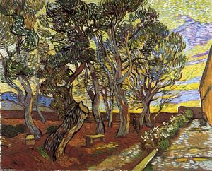 Vincent Van Gogh - The Garden of the Asylum in Saint-Remy