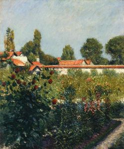 Gustave Caillebotte - The Garden of Petit Gennevillers, the Pink Roofs