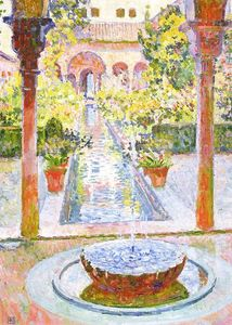 Theo Van Rysselberghe - The Gardens of Generalife in Grenada