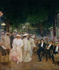 Jean Georges Béraud - The Gardens of Paris (also known as The Beauties of the Night)