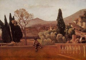 Jean Baptiste Camille Corot - Gardens of the Villa d'Este at Tivoli