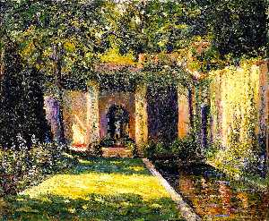 Ernest Lawson - The Garden Umbrella
