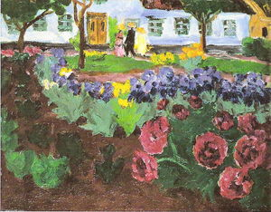 Emile Nolde - Garden with flowers