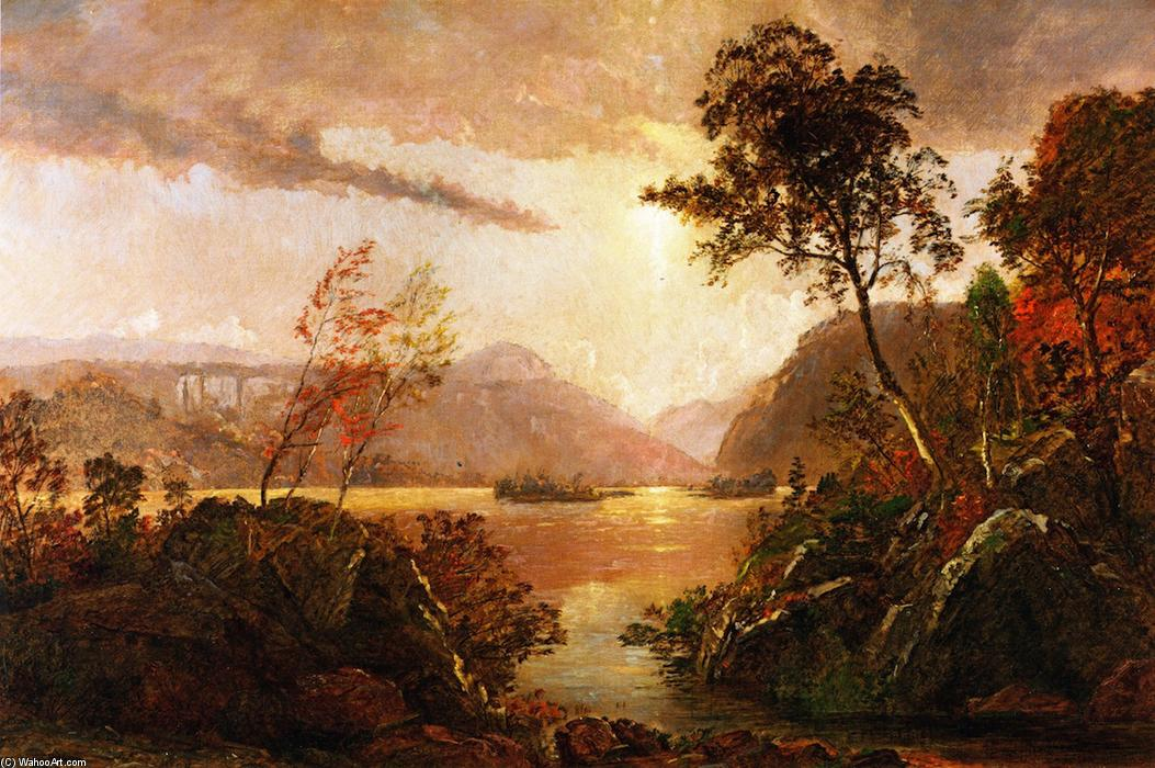 Gates of the Hudson by Jasper Francis Cropsey (1823-1900, United States) | Oil Painting | WahooArt.com