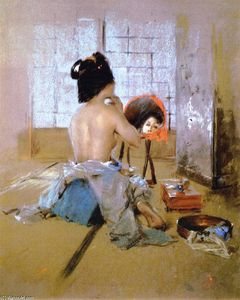 Robert Frederick Blum - Geisha at Her Toilet