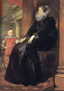 Anthony Van Dyck - Genoese Noblewoman with her Son