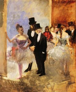 Jean Louis Forain - Gentlemen of the Opera (also known as The Dance Studio)