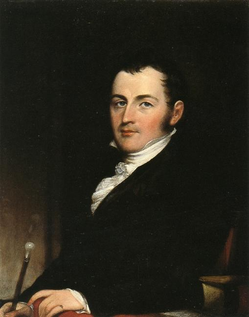 George Gallagher, New Yor,, Oil On Panel by John Trumbull (1756-1843, United Kingdom)