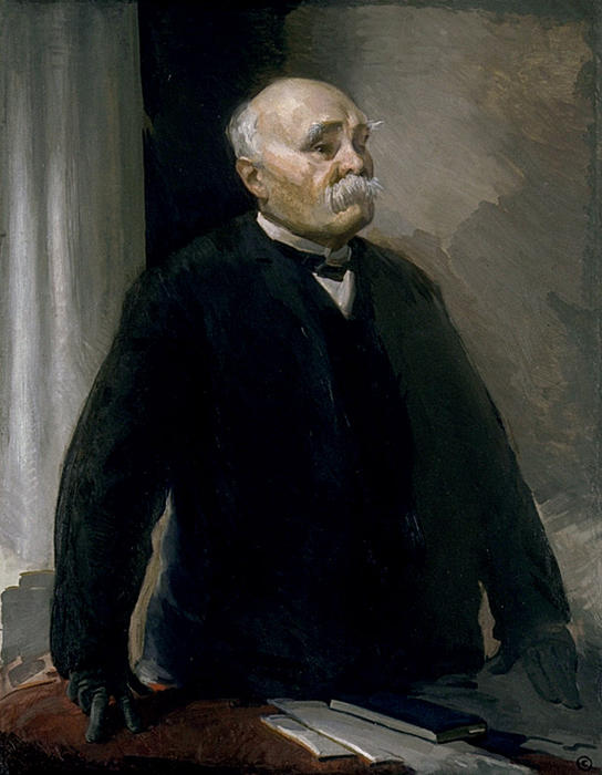 Georges Clemenceau, Oil On Canvas by Cecilia Beaux (1855-1942, United States)