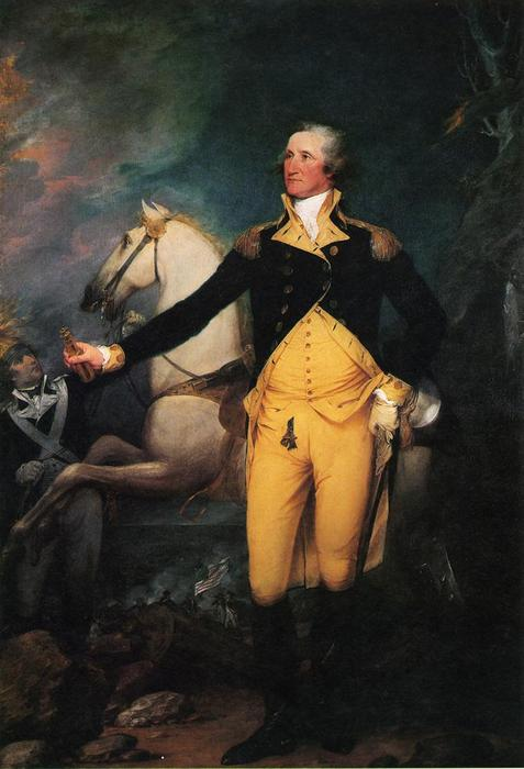 George Washington before the Battle of Trenton, Oil On Canvas by John Trumbull (1756-1843, United Kingdom)