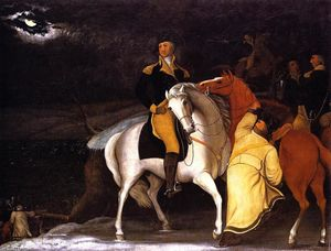 Edward Hicks - George Washington with His Army Crossing the Delaware ...,----