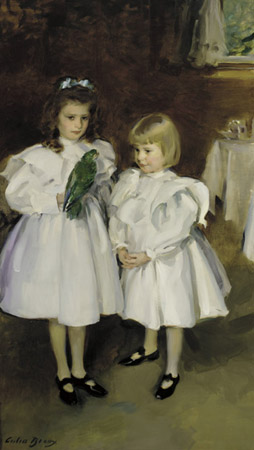 Gertrude and Elizabeth Henry, 1898 by Cecilia Beaux (1855-1942, United States) | WahooArt.com
