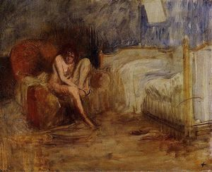 Jean Louis Forain - Getting out of Bed