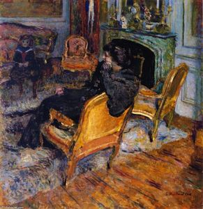 Jean Edouard Vuillard - The Gilded Chair, Madame George Feydeau and Her Son