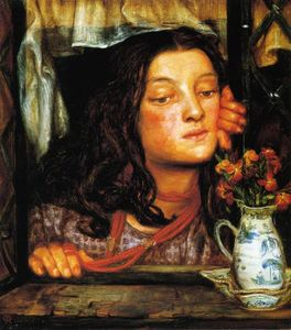 Dante Gabriel Rossetti - Girl at Lattice