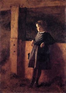 Jonathan Eastman Johnson - Girl in Barn (also known as Sarah May)