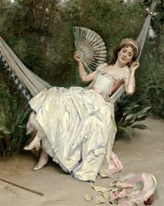 Raimundo De Madrazo Y Garreta - Girl in the Hammock