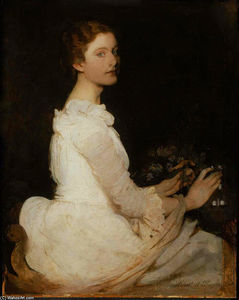 Abbott Handerson Thayer - Girl in White (also known as Margaret Greene)