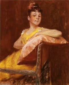William Merritt Chase - A Girl in Yellow (also known as The Yellow Gown)