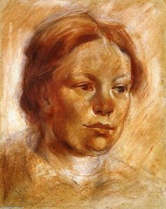 Franz Marc - Girl's Head (Maria Franck)