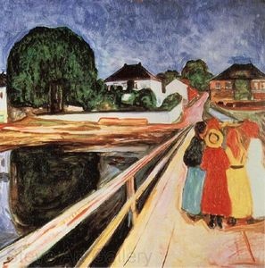 Edvard Munch - Girls on a Bridge
