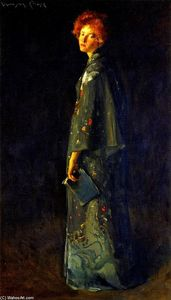 William Merritt Chase - Girl with a Book (also known as A Girl)
